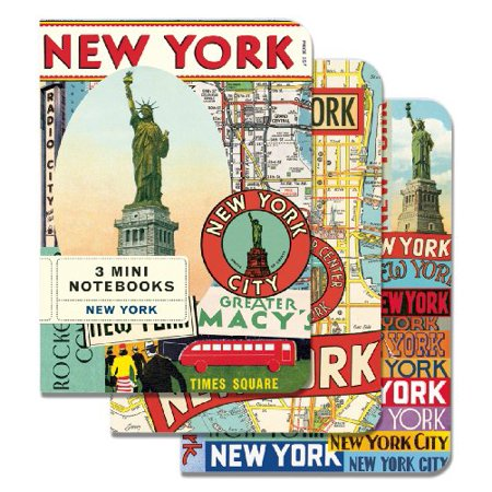 Cavallini Mini Notebooks New York 4 x 5, 3 Mini Notebooks - Mini Notebooks