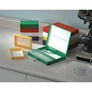 HEATHROW SCIENTIFIC HEA15989R MICROSCOPE SLIDE BOX 25 SLOTTED WH HEA