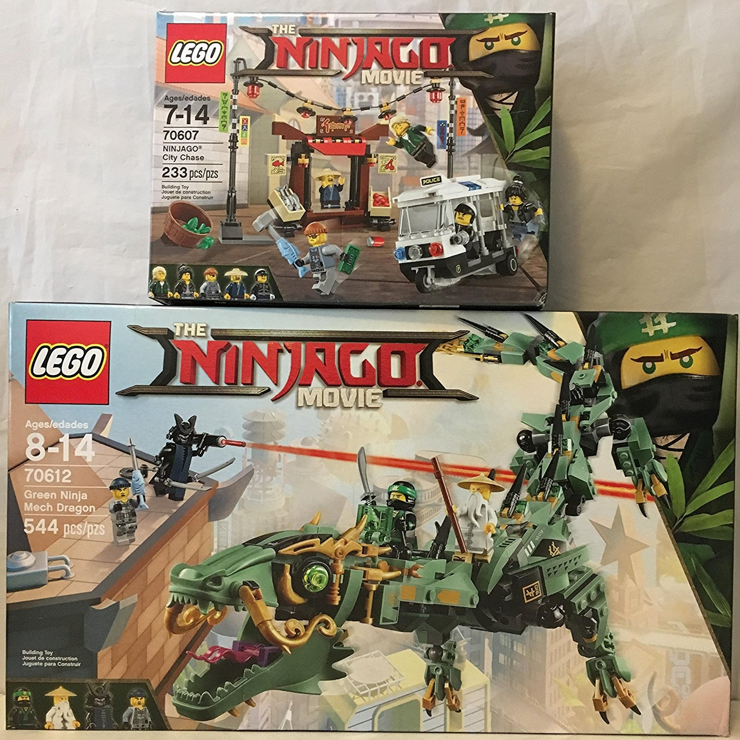 LEGO Ninjago Movie Green Ninja Mech Dragon & LEGO Ninjago...