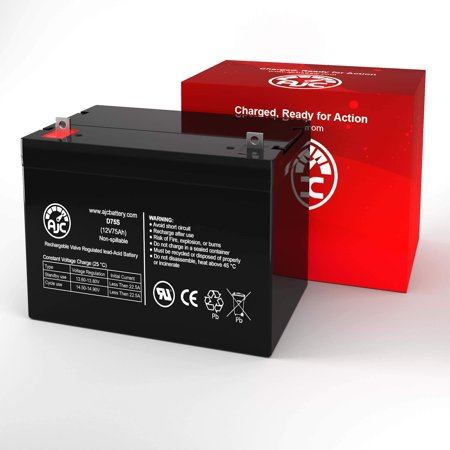 Quickie P320 GP24 AGM 12V 75Ah Wheelchair Battery - This is an AJC Brand Replacement - image 2 of 6