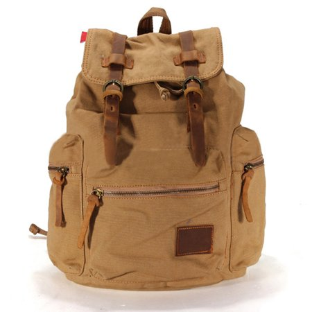 db0f4a0063 32L Men Women Vintage Canvas Backpack Rucksack School Satchel Travel Hiking  Bag - Walmart.com