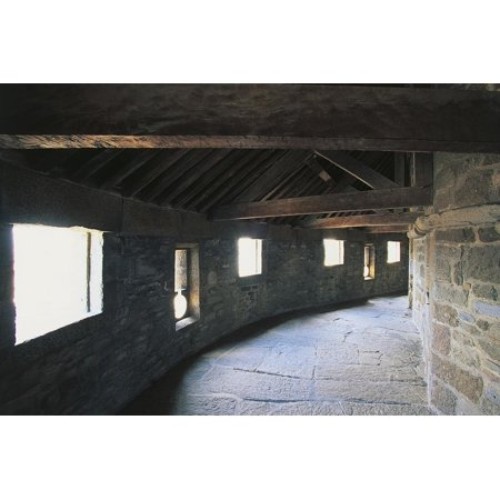 Covered Walkway in Dungeon of Castle, Saint-Malo, Brittany, France Print Wall Art](Dungeon Wall)