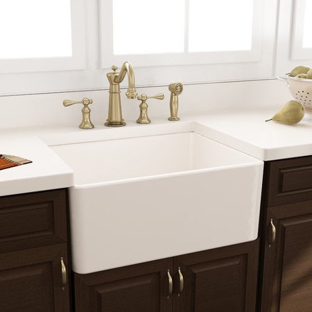 24 Inch Farmhouse Sink : Nantucket Sinks 24 x 18 Fireclay Farmhouse Kitchen Sink w...