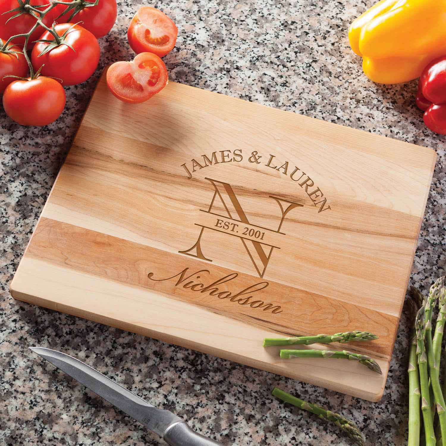 Personalized Happy Couple Cutting Board