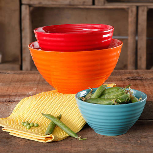 The Pioneer Woman Flea Market 3-Piece Ceramic Mixing Bowls