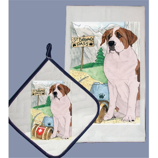 Pipsqueak Productions DP924 Dish Towel and Pot Holder Set St. Bernard by Pipsqueak Productions