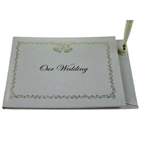 our wedding guests wedding guest book with attached pen wedding set