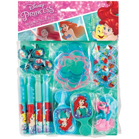 The Little Mermaid Mega Mix Birthday Party Favor Pack, 48pc - Princess Ariel Birthday Party