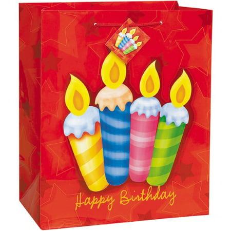 Birthday Surprise Gift Bag Assortment 18'X13'-3 Each of 4 - Surprise Assortment