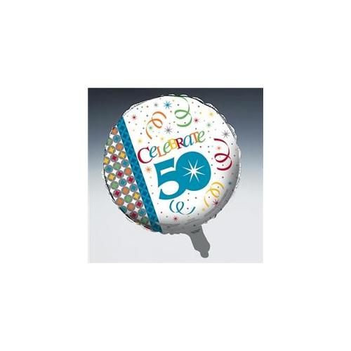 Creative Converting 193795 Celebrate In Style 50 Foil Balloon
