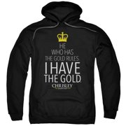 Chrisley Knows Best/Gold Adult Pull Over Hoodie Black  Usa101