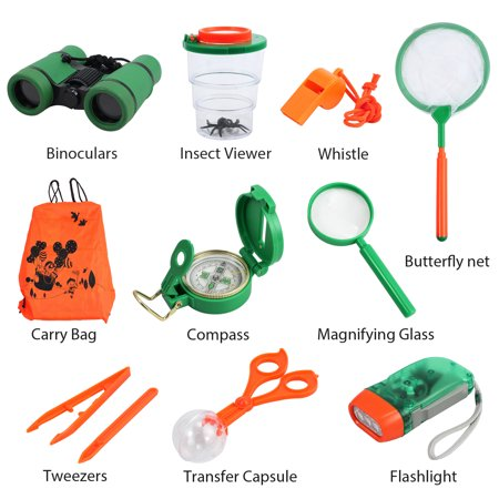 Outdoor Kit Toys for Kids-Set of 12 Adventure Kid Camping Exploration Toys, Outdoor Explorer Kit for Kids, Camping Toys for Kids, Nature STEM Education for Children, Boys Birthday Gifts, Gift Boxed](Kids Outdoor Toys)