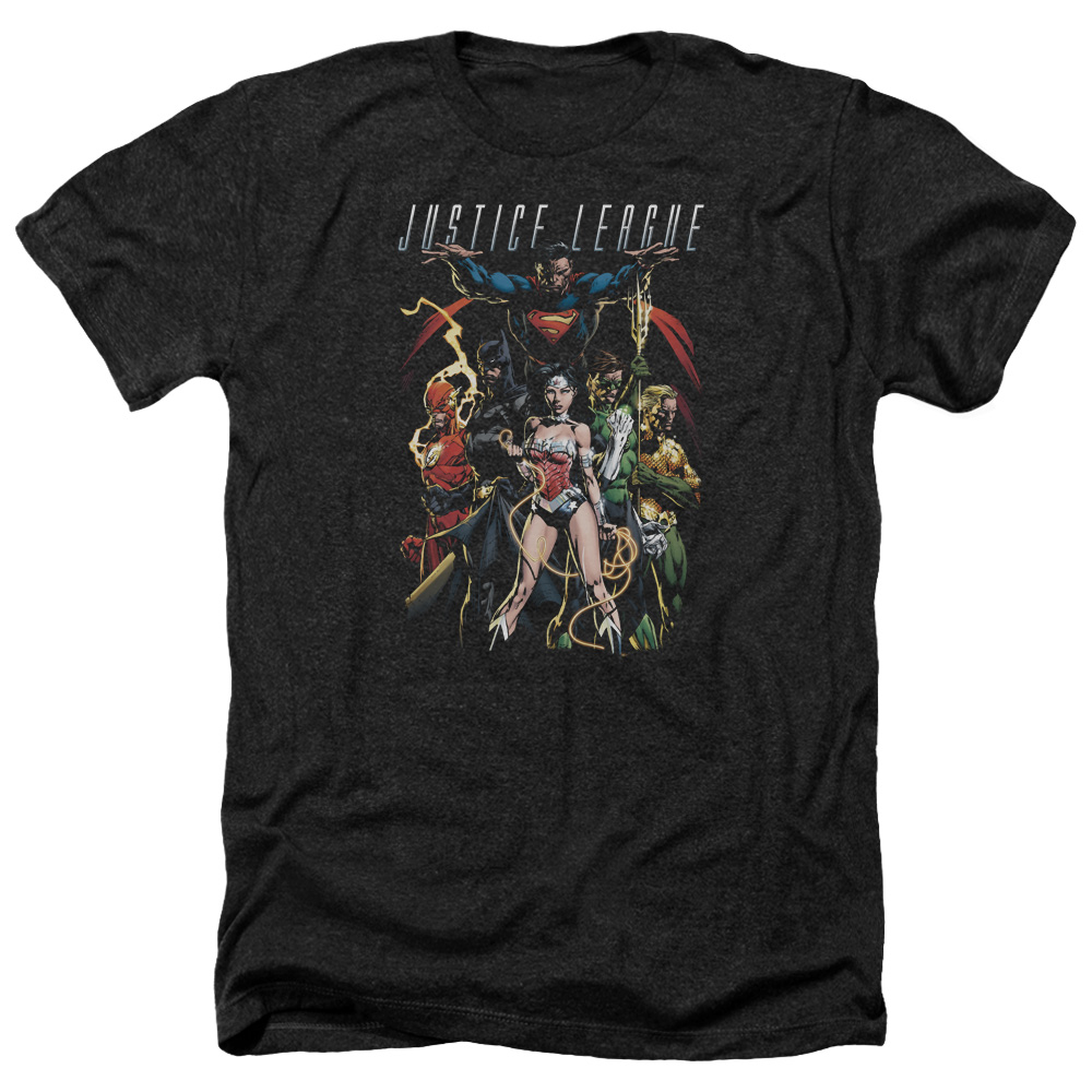 Jla Dark Days Mens Heather Shirt