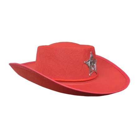 Red Child Boys Cowboy Sheriff Hat Costume Accessory Lone Ranger Western Prop for $<!---->