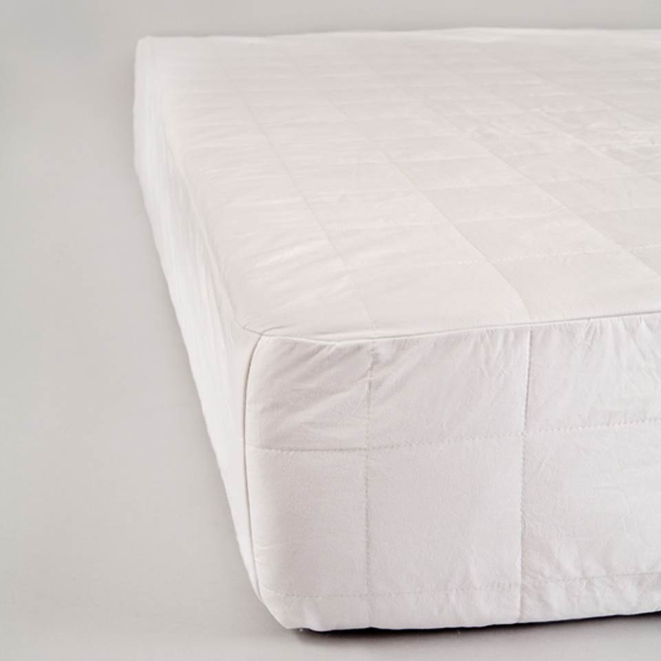 Hypoallergenic Cotton Mattress Protector in White (Twin)