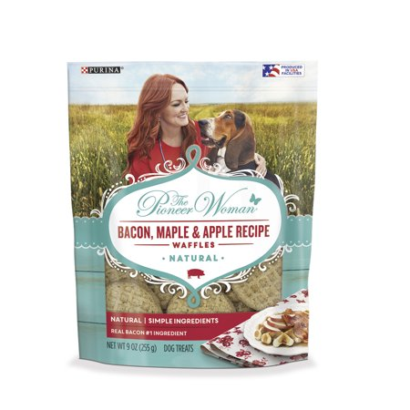 The Pioneer Woman Natural Dog Treats; Bacon Maple & Apple Recipe Waffles - 9 oz. - Halloween Apple Treats