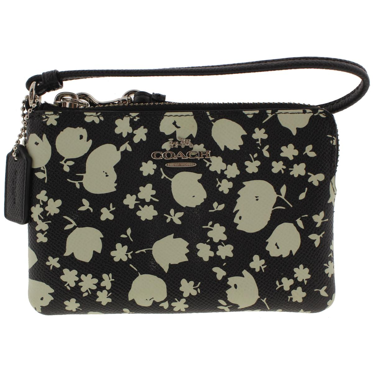 Coach Womens Leather Printed Wristlet Wallet