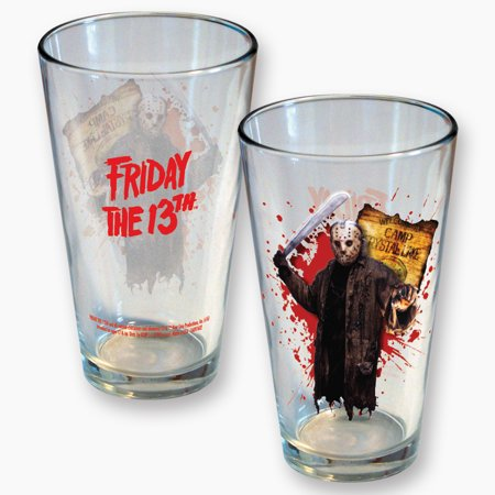 Friday the 13th Jason Voorhees Full Color Pint Glass (Jason Voorhees Birthday)