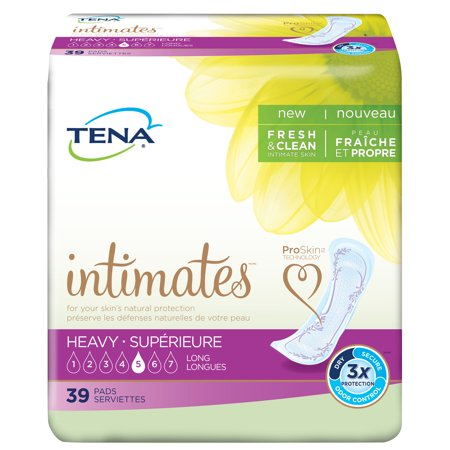 Tena Incontinence Pads For Women  Heavy  Long  39 Count