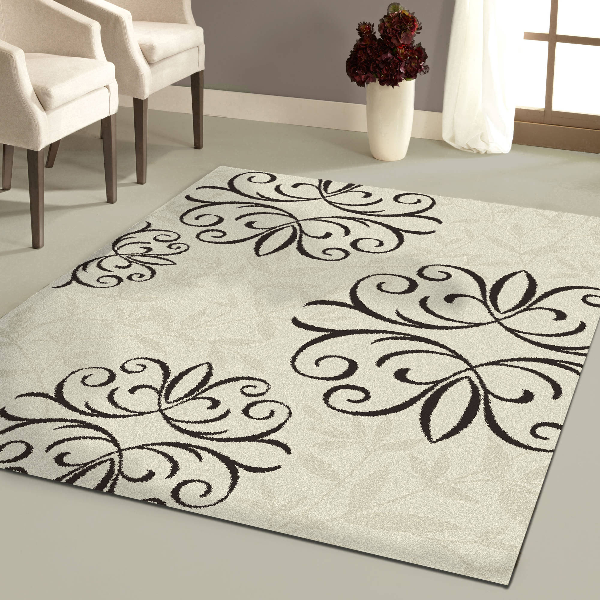 Better Homes and Gardens Iron Fleur Area Rug Available In Multiple Colors And Sizes