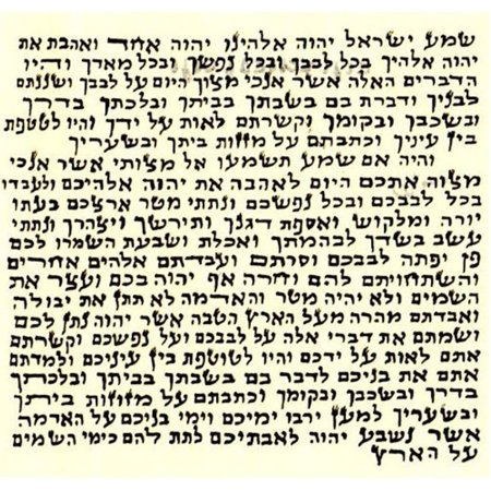 Two Non kosher scroll / parchment / Klaf or scroll for standard size Mezuzah cases - from (Mezuza Case)