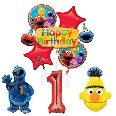 The Ultimate Sesame Street and Friends 1st Birthday supplies Balloon - Sesame Street Balloon