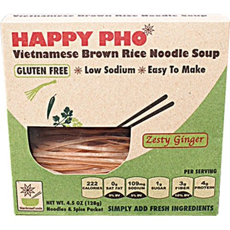 Ginger Noodle (Foods Happy Phozesty Ginger Noodle Soup, 4.5 Oz.)