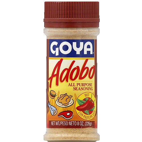 Goya Adobo Hot All Purpose Seasoning, 8 oz, (Pack of 24) by
