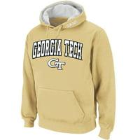 Georgia Tech Yellow Jackets Stadium Athletic Arch & Logo Pullover Hoodie - Gold - 3XL