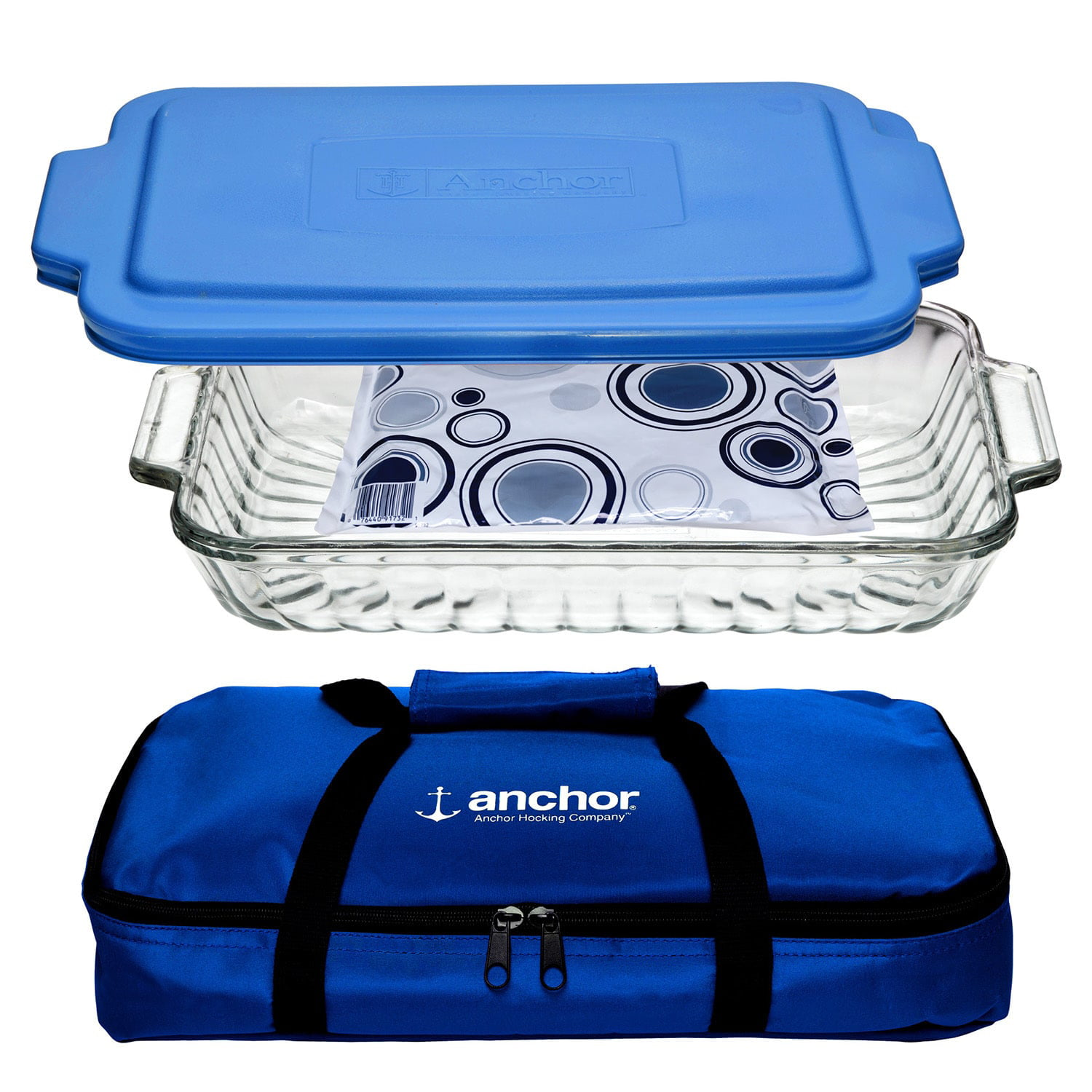 Anchor Hocking 3-Piece Bakeware Set, Clear by Anchor Hocking