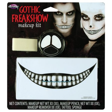 Gothic Freakshow Makeup Kit Adult Costume Accessory