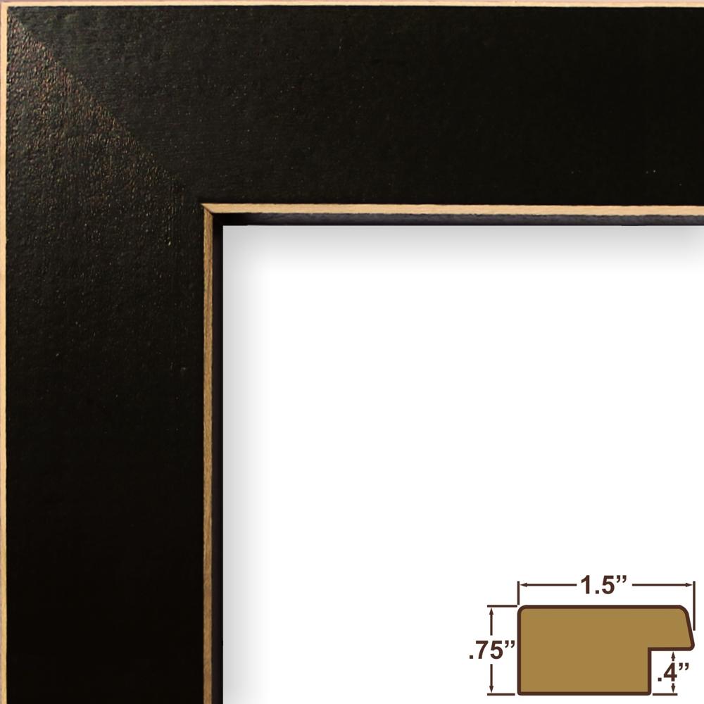 Craig Frames Shaker 276 Black Solid Wood Picture Frame 8 X 12 Inch