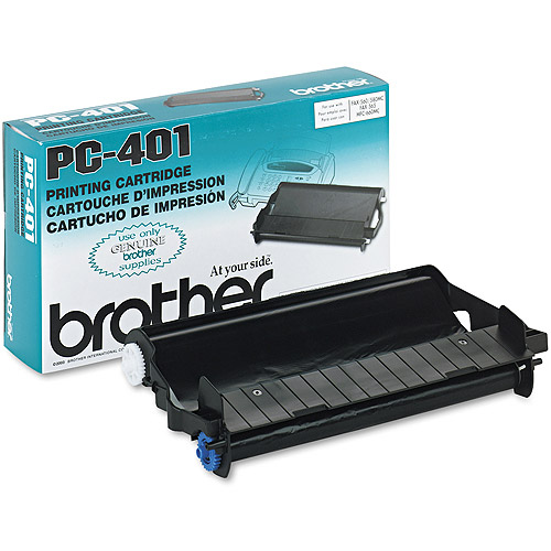 Brother PC401 Black Thermal Print Cartridge Ribbon