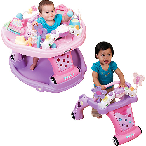 Kolcraft - Sit & Step 2-in-1 Activity Center, Flower Power