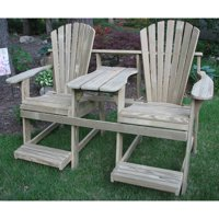 Weathercraft Adirondack Double Seater Balcony Height Tete-A-Tete with Umbrella Hole - Unfinished