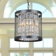 The Lighting Store Henrietta 4-light Antique Black Iron Cage Pendant