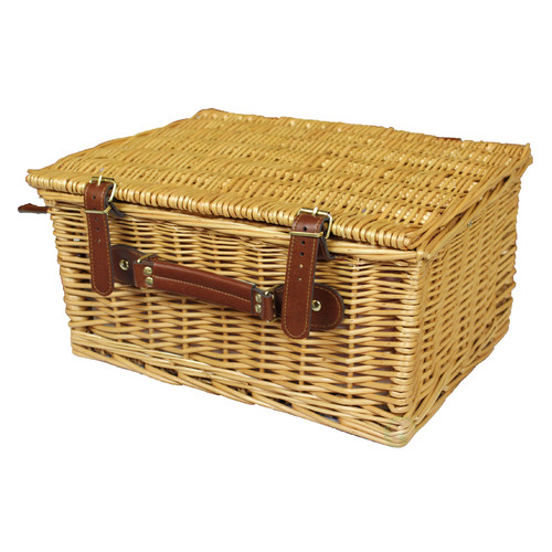 Quickway Imports Picnic Suitcase Basket with Accessories