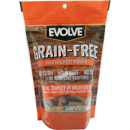 12oz Evolve Grain Free Turkey, Sweet Potato, and Cranberry Flavored Dog Biscuit - Biscuit The Dog Halloween