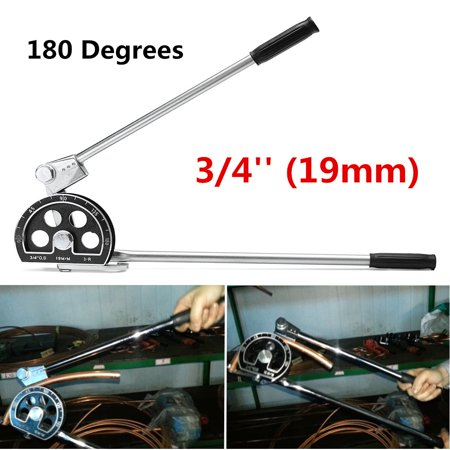 Grtsunsea 3/4'' 19mm 180° Tube Bender For Plumbing Gas Refrigeration Copper Aluminum Pipe
