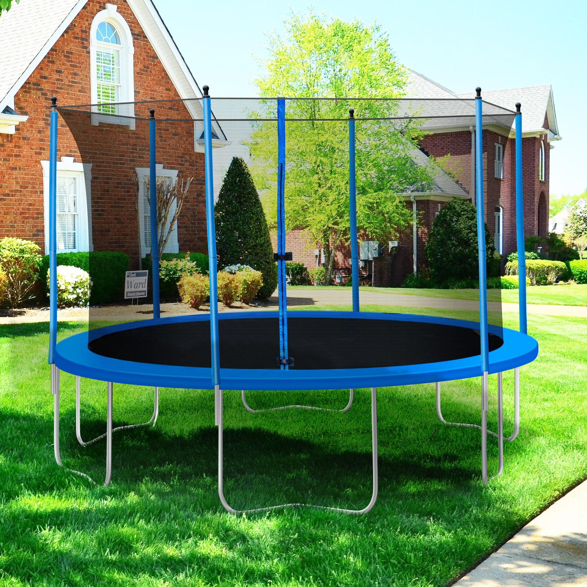 Amigo trampoline with safety net 139 cm red