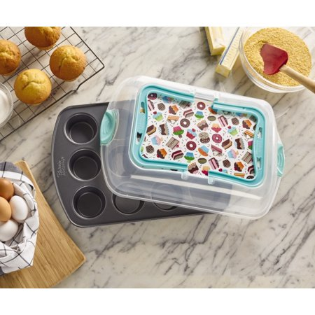 Baker's Advantage 12-Cup Muffin Pan with Lid, 2-Piece (Muffin Dish Lid)