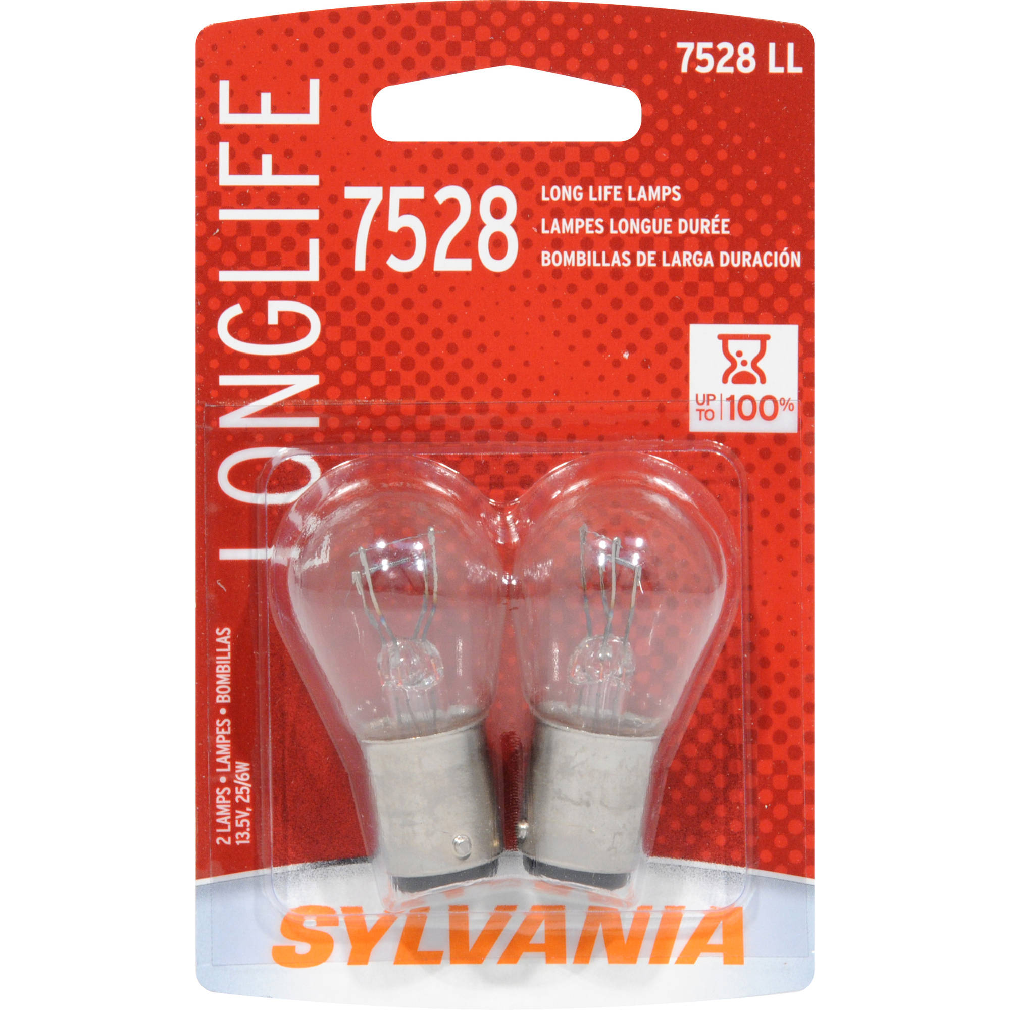Sylvania 7528 Long-Life Miniature Bulb, Twin Pack