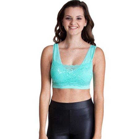 8e9abce114608 Flying Street - Lace Bralette Top - Walmart.com