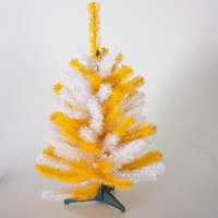 Gerson Christmas Decor - Artificial Tabletop Tree Yellow White 2ft.