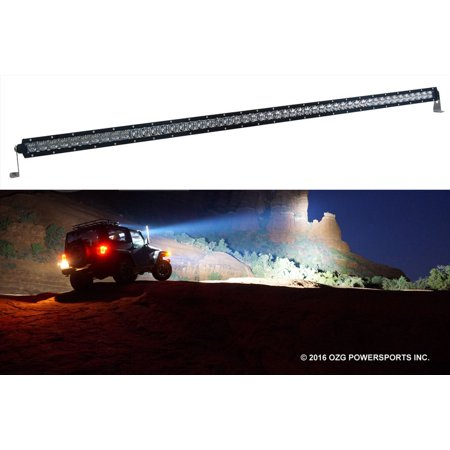 S4D 50 inch Single Row OZ-USA? LED Light bar 4D reflectors spot flood combo off road 4x4 4wd race truck