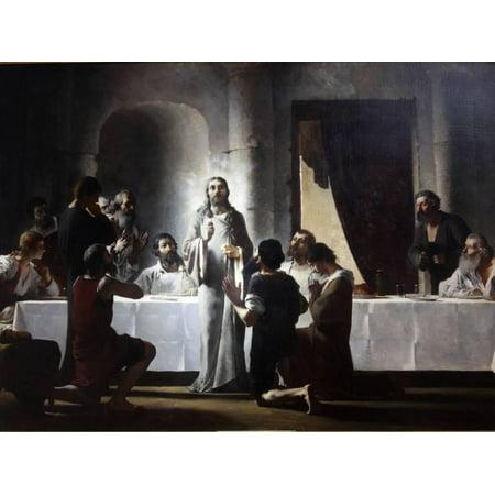 The Last Supper By Henri Lerolle, a 19th Century Oil Painting, Saint-Francois-Xavier Church, Paris Print Wall Art
