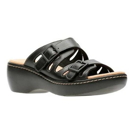 d1cef45f9bd Clarks - Womens Clarks Delana Liri Double Buckle Slip On Sandals ...