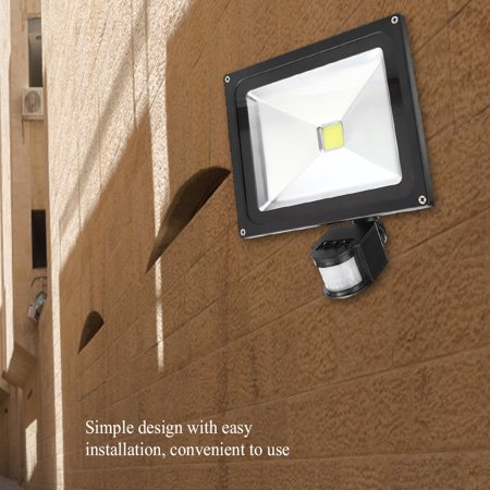 Hilitand 50W Outdoor Garden Light Motion Sensor Lawn Lamp for Home Garden Courtyard Lighting, Sensor Garden Light