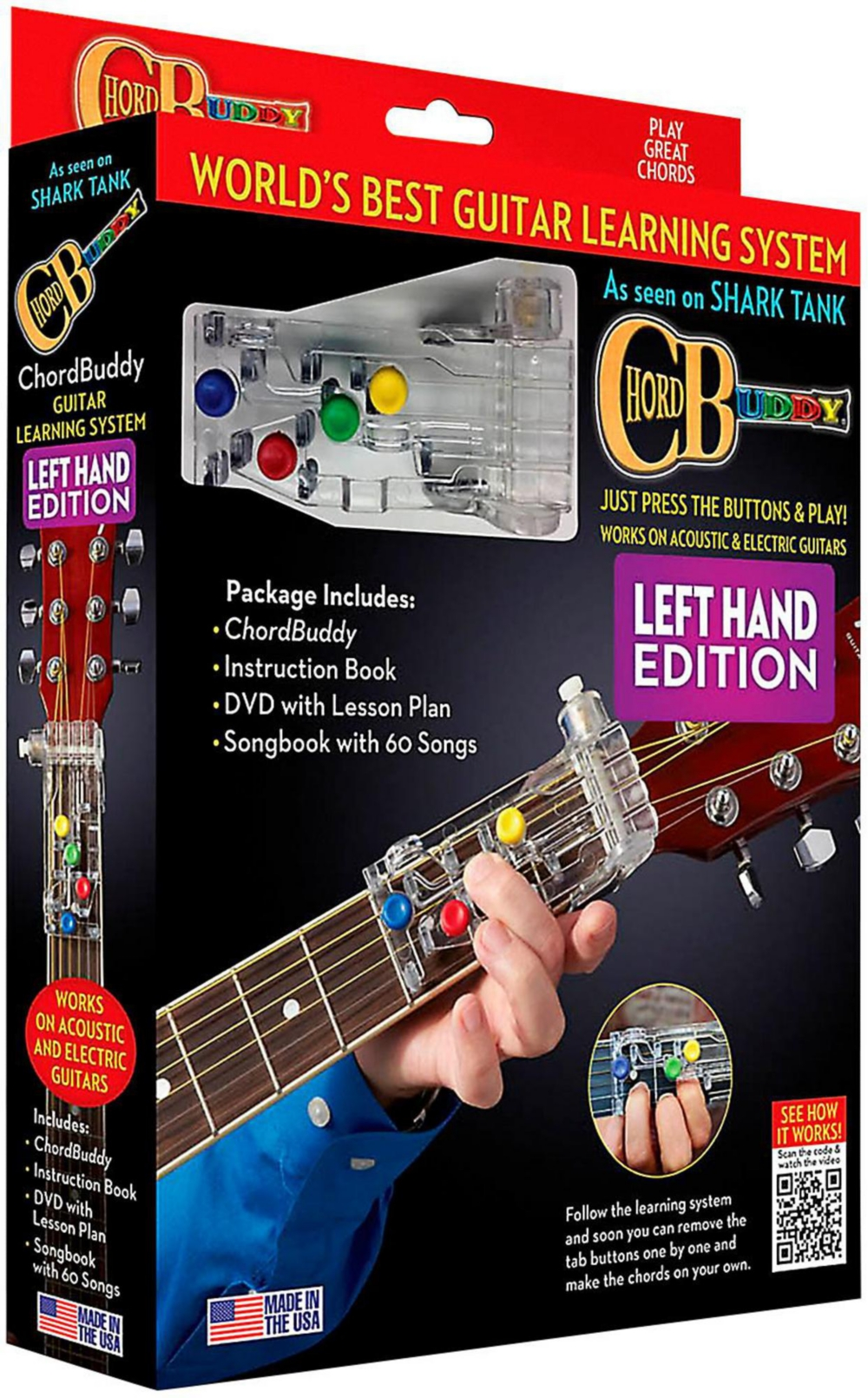 Hal Leonard Chordbuddy Left-Handed Guitar Learning System Pack by