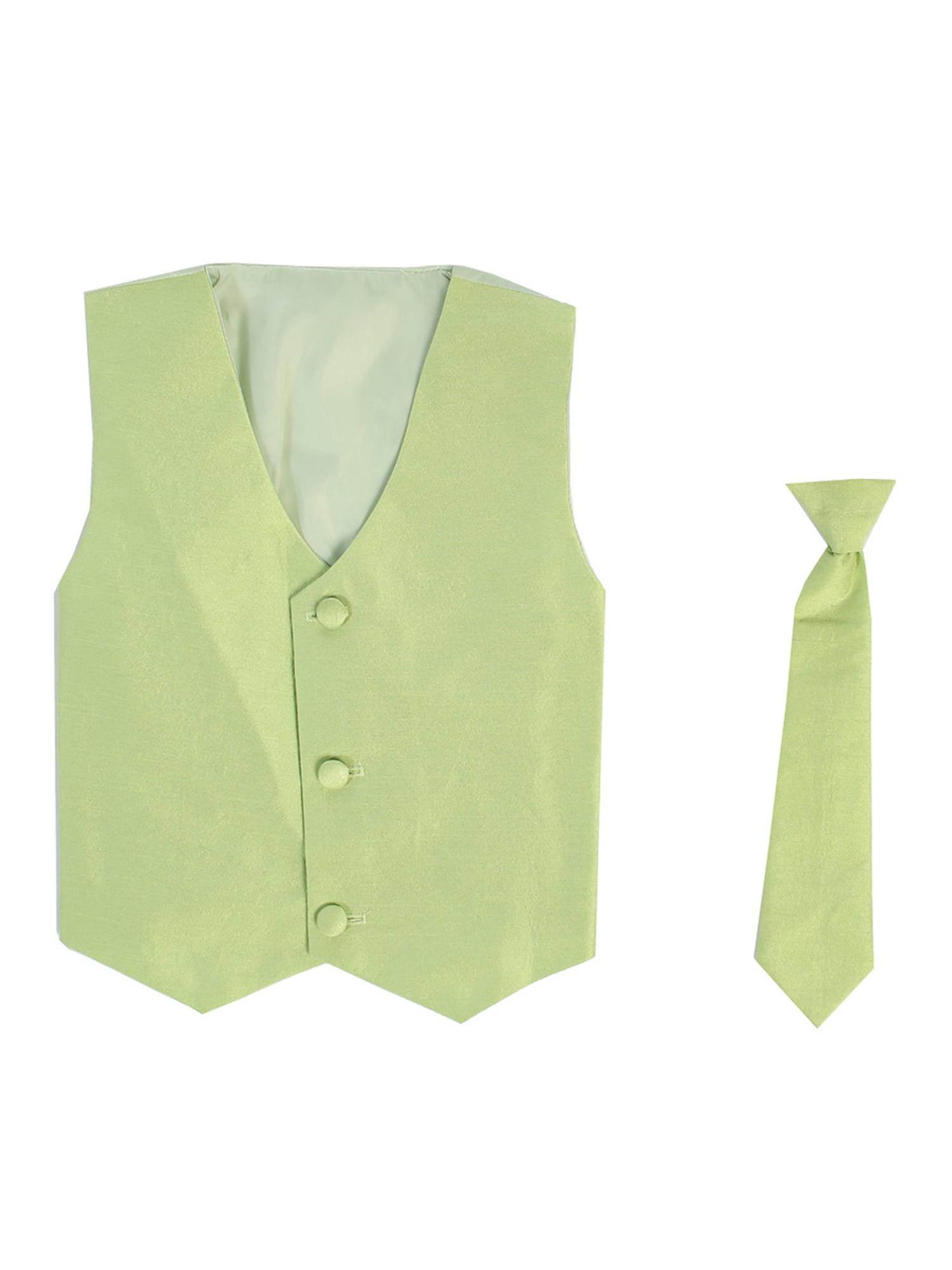 Vest and Clip On Baby Boy Necktie set - GOLD - L/XL (12-24 Months)